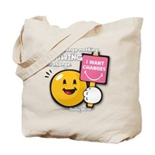 Looking for a change Smiley Tote Bag