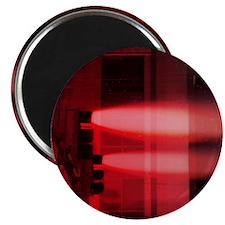Red Lights Exploding square Magnet