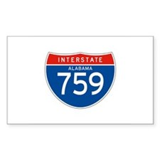 Interstate 759 - AL Rectangle Decal