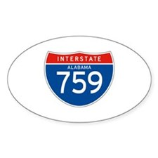 Interstate 759 - AL Oval Decal
