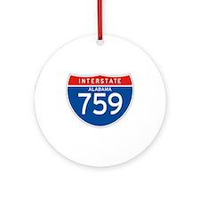 Interstate 759 - AL Ornament (Round)