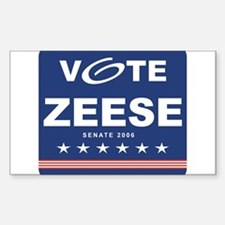 Vote Kevin Zeese Rectangle Decal
