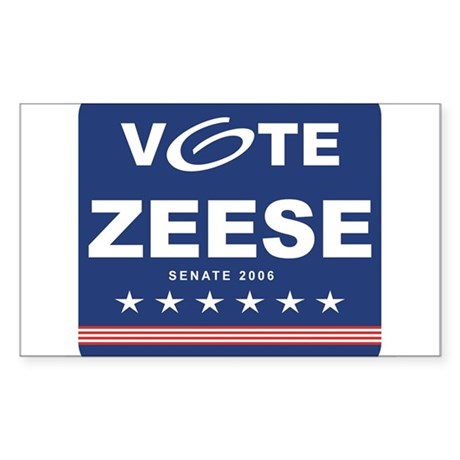 Vote Kevin Zeese Rectangle Sticker