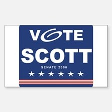 Vote Kevin Scott Rectangle Decal