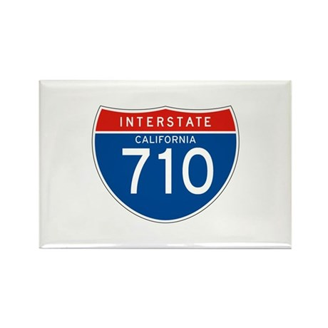 Interstate 710 - CA Rectangle Magnet (10 pack)