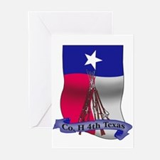 Co. H 4th Texas Flag Greeting Cards (Pk of 10)
