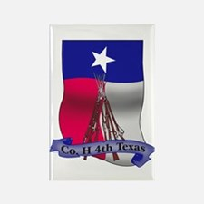 Co. H 4th Texas Flag Rectangle Magnet