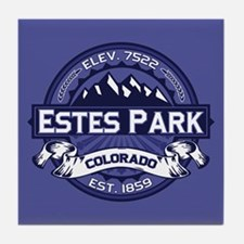 Estes Park Midnight Tile Coaster