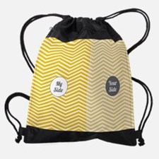 Cute couples matching Drawstring Bag