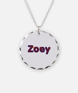 Zoey Red Caps Necklace