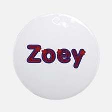 Zoey Red Caps Round Ornament