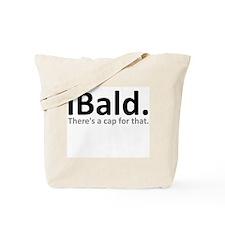 iBald Funny Bald Balding Tote Bag