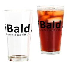 iBald Funny Bald Balding Drinking Glass