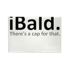 iBald Funny Bald Balding Rectangle Magnet