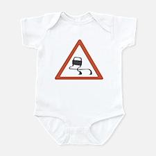road sign slippery Infant Bodysuit
