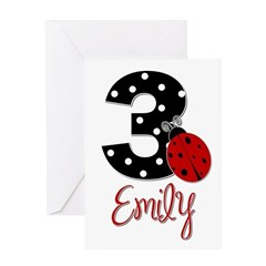 3 Ladybug EMILY - Custom Greeting Card