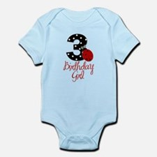 3 Ladybug Birthday Girl Body Suit
