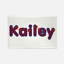 Kailey Red Caps Rectangle Magnet