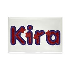 Kira Red Caps Rectangle Magnet