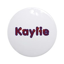 Kaylie Red Caps Round Ornament