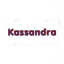 Kassandra Red Caps Aluminum License Plate