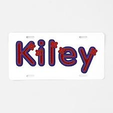 Kiley Red Caps Aluminum License Plate