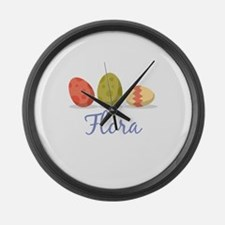 Easter Egg Flora Large Wall Clock