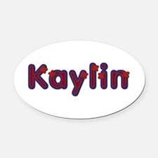Kaylin Red Caps Oval Car Magnet