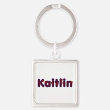 Kaitlin Red Caps Square Keychain