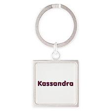 Kassandra Red Caps Square Keychain