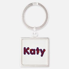 Katy Red Caps Square Keychain