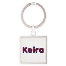 Keira Red Caps Square Keychain