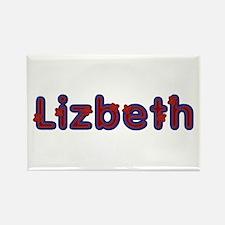 Lizbeth Red Caps Rectangle Magnet