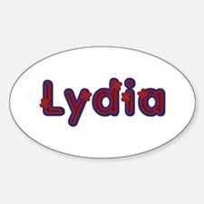 Lydia Red Caps Oval Decal