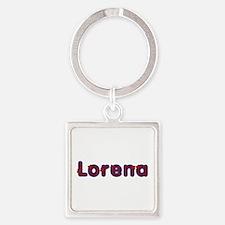 Lorena Red Caps Square Keychain