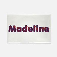 Madeline Red Caps Rectangle Magnet