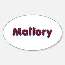 Mallory Red Caps Oval Decal