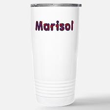 Marisol Red Caps Stainless Steel Travel Mug