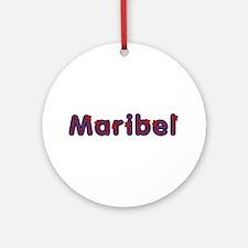 Maribel Red Caps Round Ornament