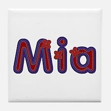 Mia Red Caps Tile Coaster