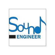 DJ or music lover 'Sound Engineer' design Sticker