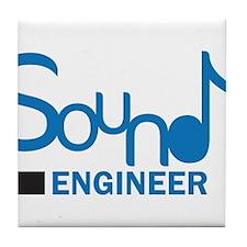 DJ or music lover 'Sound Engineer' design Tile Coa