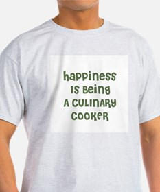 Happiness Is Being A CULINARY Ash Grey T-Shirt