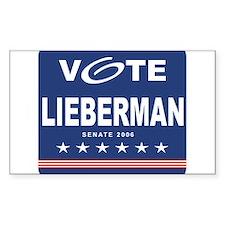 Vote Joe Lieberman Rectangle Decal