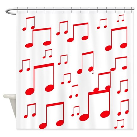 MUSICAL NOTES Xâ?¢.psd Shower Curtain