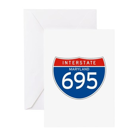 Interstate 695 - MD Greeting Cards (Pk of 10)
