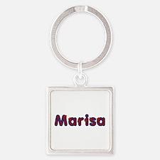 Marisa Red Caps Square Keychain