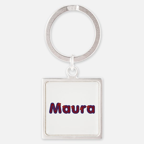 Maura Red Caps Square Keychain