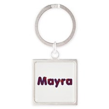 Mayra Red Caps Square Keychain
