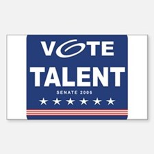Vote Jim Talent Rectangle Decal